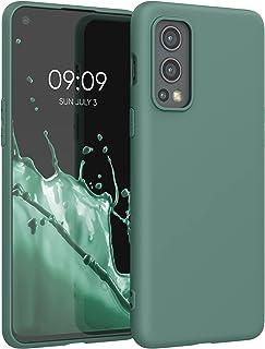 kwmobile telefoonhoesje compatibel met OnePlus Nord 2 5G - Hoesje voor smartphone - Back cover in dennengroen