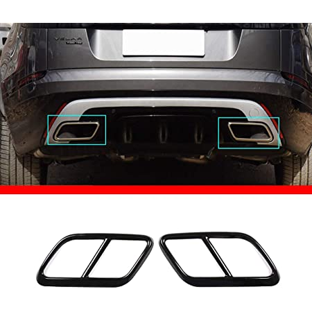 Polishing Car Tail Throat WANGXL Exhaust Pipe Cover Tail Frame Cover Trim For Land Rover Range Rover Velar 2017 2018 2019 Stainless Steel Muffler Tip Exhaust Trims