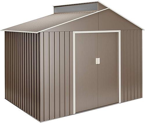 Hoggar Abri de Jardin en métal Lattsta 5.44 m2 - Garantie 10 Ans - 282x192x222cm