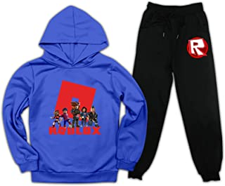 EELMOOR Boys Girls Tracksuit R-oB_lox Pullover Hoodies Pants Set Fashion 2 Pieces Sweatsuit for Outdoor Sports