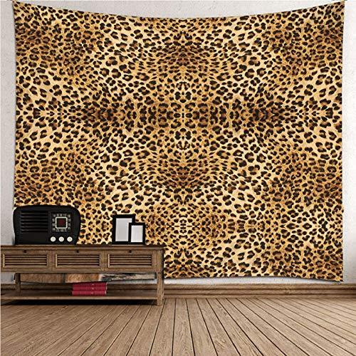 Daesar Tapiz 3D Grande Habitacion,Patrón de Leopardo Tapiz Decorativo Tapiz de Pared de Tela Poliéster Marrón Negro 260x240CM(Ancho x Altura)