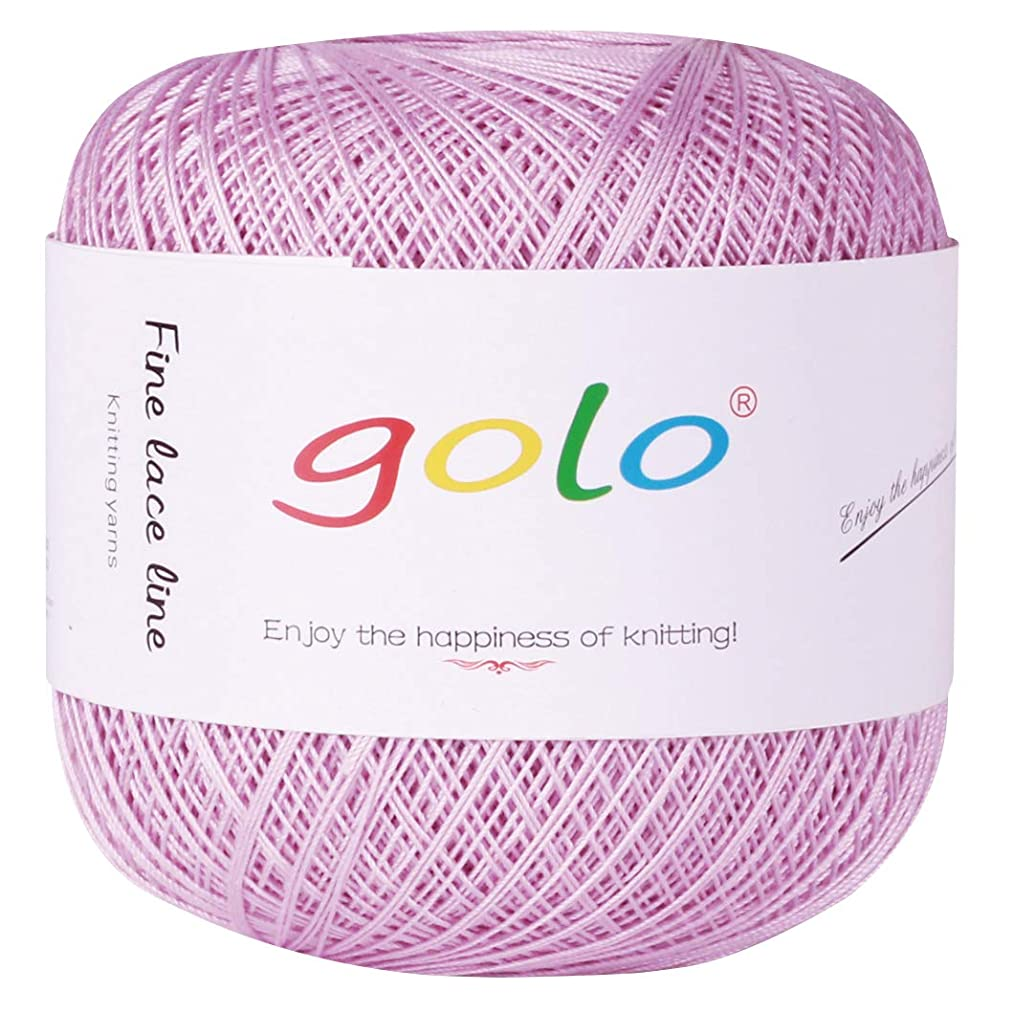 Crochet Thread Yarns for Begingers Size10-100% Contton Yarn for Knitting Crochet DIY Hardanger Cross Sitch Crochet Thread Balls Rainbow Turquoise 39 Colors Avilable (Lilac Colour)