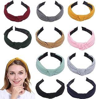 BETOY Fascia per capelli da donna, 10 pezzi, fascia elastica per capelli, turbante, nodo turbante, fascia per capelli, da ...