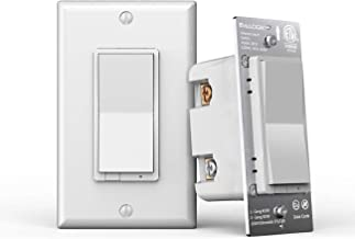 Z-Wave Plus Smart Dimmer Light Switch 3 Way   Built-in Z-Wave Repeater   Works with Existing Regular 3-Way Switch, Zwave Hub Required, Works with SmartThings, Wink, Alexa (ZW31)