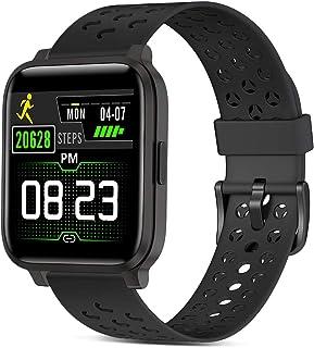 Smartwatch, Reloj Inteligente Impermeable IP68 Hombre Mujer con Pulsómetro,Cronómetros,Calorías,Monitor de Sueño,Podómetro...