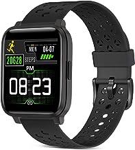 Smartwatch, fitnesstracker horloges met hartslagmeters, IP68 waterdichte activiteitstracker met touchscreen, voor dames en...
