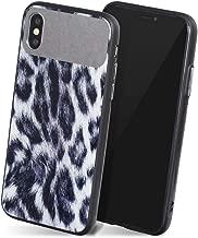 iPhone XSMax ケース グレイ 灰 「 レオパードミラー 」 シリコン ストラップホール 強化 ガラス カバー 鏡 付き ヒョウ柄 ひょう レオパ おしゃれ かわいい 大人 女子 艶 プレゼント 人気 軽量 軽い iPhoneXSMax,3.グレイ