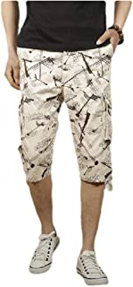 neveraway Men Waistband Stretchy Md-Long Khaki Original Fit Shorts Pants