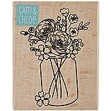 Cam & Chloe Mounted Stamp 2.5x2-Mason Jar Bouquet
