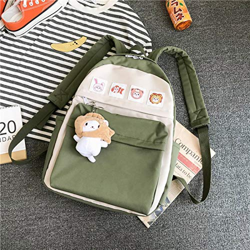 MNBVCX Schoolbag Girl Korean Version Cute Little Fresh Soft Girl Student Backpack 31X10X38Cm