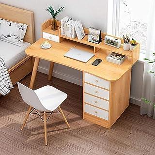 Bureau moderne à 4 tiroirs pour ordinateur avec espace de rangement ouvert, style simple, station de travail B 100-120 cm