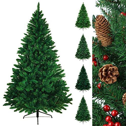 BB Sport Christbaum Weihnachtsbaum PVC Tannenbaum Künstlich Standfuß Klappsystem, Farbe:Hellgrün, Höhe:180 cm