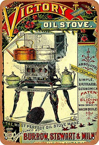 Victory Oil Stove Vintage Tin Sign Art Iron Painting Rusty Poster Decoration Aluminum plaque For Hotel Cafe School Office Garage