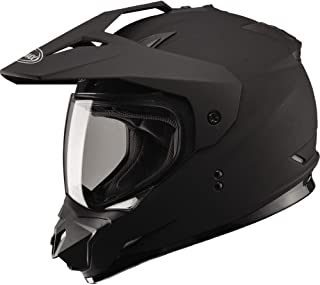 GMAX GM11 D/S Solid Men's Motocross Motorcycle Helmet - Flat Black / Large