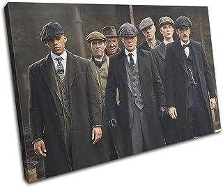 Bold Bloc Design - Peaky Blinders Thomas Shelby TV 75x50cm Single Caja de Lamina de Arte Lienzo Enmarcado Foto del Colgante de Pared - Listo para Colgar Canvas Print 13-4011(00B)-SG32-LO-C