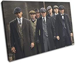 Bold Bloc Design - Peaky Blinders Thomas Shelby TV 120x80cm Single Canvas Art Print Box Framed Picture Wall Hanging - Hand...