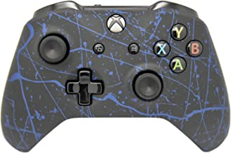 Hand Airbrushed Color Burst Wireless Custom Controller - Compatible with Xbox One (Matte Blue)