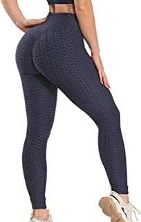 STARBILD Women's High Waist Ruched Butt Lifting Yoga Pants Tummy Control Stretchy Leggings Booty Textured Workout Tights
