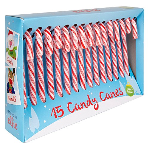 15 Pack Christmas Tree Peppermint Candy Canes Decoration Sweets Box Large Xmas