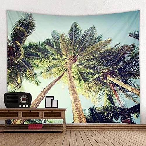 KHKJ Tapiz con Estampado de Cesta de árbol de Coco, Tapiz Hippie Barato para Colgar en la Pared, Tapiz de Pared, Mandala, decoración artística de Pared A6 200x180cm