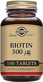 Solgar Biotin 300 Mcg, 100 Tablets