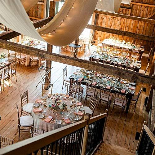 Tenture Mariage Tissu polyester blanc 100 M x 80 cm - Rouleau de 100 mètres de Tenture Plafond Blanc pour Deco Plafond Mariage - Voilage Blanc Mariage idéal pour une Decoration Mariage Champetre
