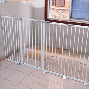 Punch-free Baby Safety Gates Stairway Extra Wide Fence Baby Fence Pet Dog Fireplace Fence Isolation Door Pressure Mount Play Area Top Bottom Stairs Color Height 78cm width Size 187-194cm