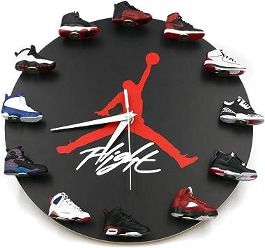 Air Jordan Wall Clock with 3D Mini Sneakers, Sneakerhead Style Decor Air Jordan 1 to 12 Clock, Hypebeasts