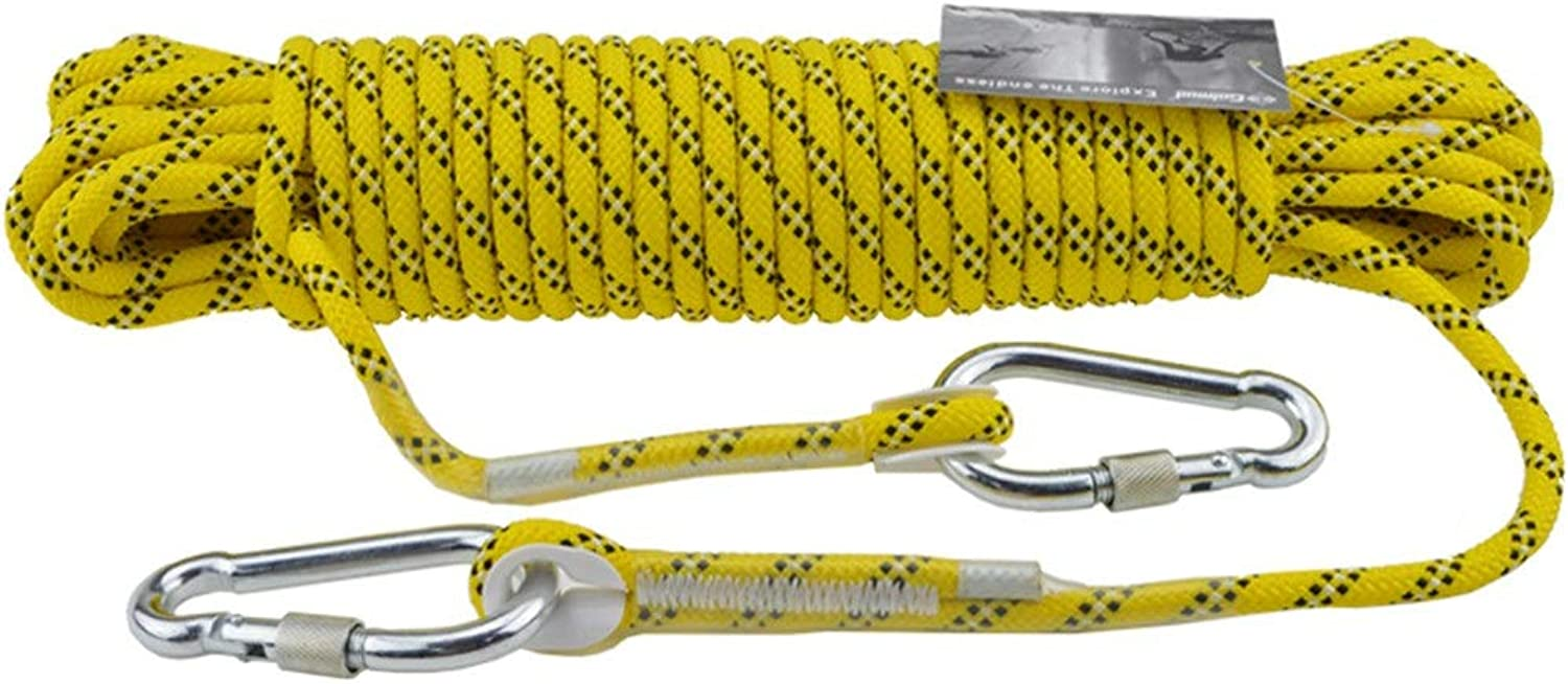 Outdoor Sports Goods, Climbing Rope, Heavy Duty Rope, Diameter 8mm Safety Durable Yellow