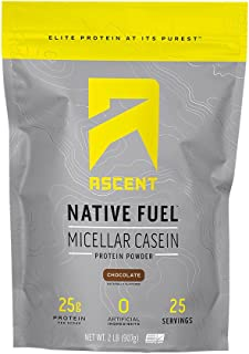 Ascent Native Fuel Micellar Casein Protein Powder - 2 Lbs - Chocolate