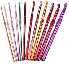 12 Maten Multicolor Aluminium Haak Haken Weven Breien Naalden Craft Tool (set 2)