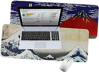 LIZIMANDU Gaming Mouse Pad,Extended Large Pattern Anti Slip Stitched Edges Long XXL Mousepad,Desk Pad Keyboard Mat, Non-Sl...