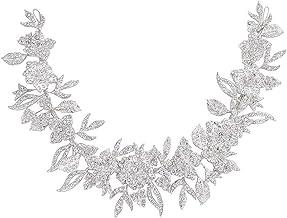 Jurk-accessoires Zilveren applique bruiloft riem bruid bruidsmeisje jurk riem strass trouwjurk riem bloem strass bruid tai...