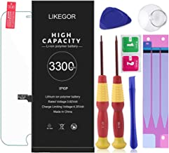 LIKEGOR 3300mAh 6 Plus Replacement Battery Fits for iPhone 6Plus Model A1522, A1524, A1593, li-ion Battery with Complete Repair Tool Kits-24 Months Warranty