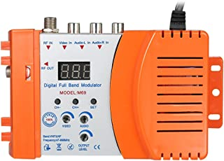 KKmoon Kompakter HF Modulator Audio Video TV Konverter RHF UHF Signalverst?rker AC230V