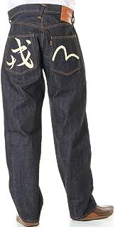 EVISU JEANS 38~42in 裾上げ可 エヴィスジーンズ No2 2001 戎&カモメ ペイントマーク 漢字 エビス リラックスフィット ストレート ホワイト ブラック マーク