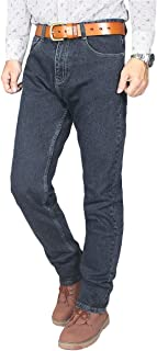 YOUTHUP Mens Stretchy Jeans Casual Straight Leg Comfortable Denim Trousers Mid Rise Jeans