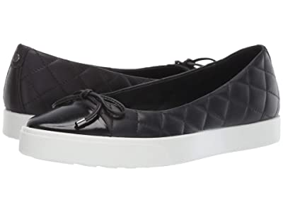 ECCO Gillian Sneaker Ballerina (Black/Black Cow Leather/Cow Leather) Women