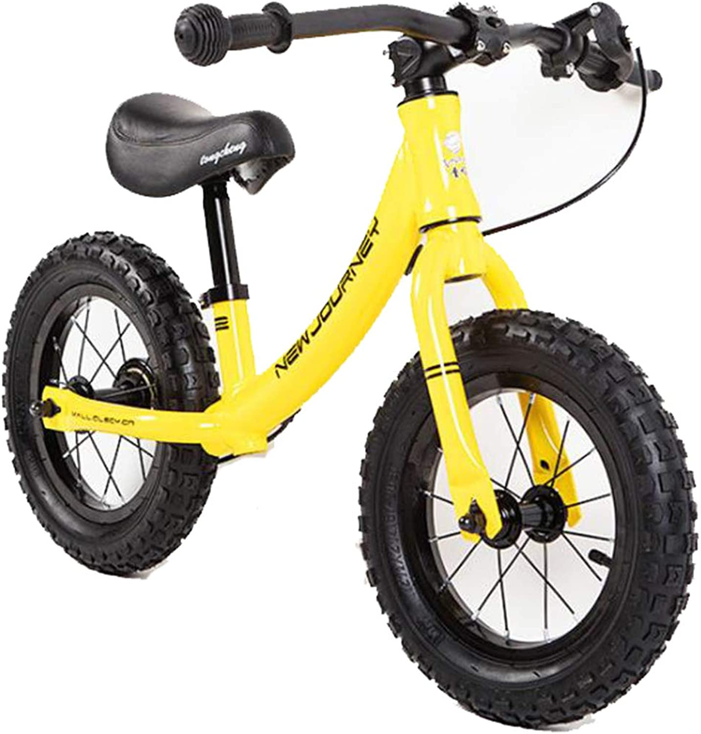 KuanDar Sports Balance Bike 12  No Bicycle Pedals, Rubber Tires, Adjustable Bicycle Seats, Brain Development, Confidence Training, Rear Brakes