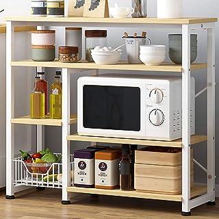 LINPAN Rangement Cuisine Organisateur étagère Cadre Cuisine en métal Baker Rack Multi-Usage à 4 étages Stand à Micro-Ondes...