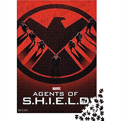CELLYONE Puzzle Adulto 1000 Piezas SHIELD's Agent: Cover Logo Poster 1000 Rompecabezas para Adultos Juguetes de Bricolaje de Entretenimiento en casa para Adolescentes 52x38CM(1000pcs)