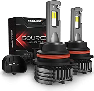 SEALIGHT 9004/HB1 LED Headlight Bulbs High Low Beam 12000LM High Power 6000K Cool S3 Series