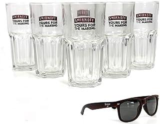 SMIRNOFF Gläser 6er SET Longdrinkglas 31cl Yours For The Making inkl. Sierra Sonnenbrille ~mn 301 1141