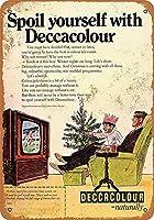 Deccacolourテレビ メタルポスター壁画ショップ看板ショップ看板表示板金属板ブリキ看板情報防水装飾レストラン日本食料品店カフェ旅行用品誕生日新年クリスマスパーティーギフト