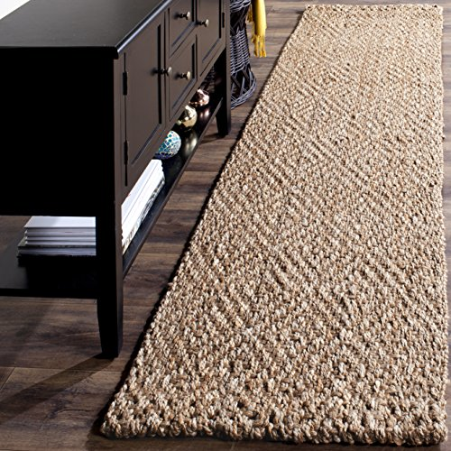 Safavieh Natural Fiber Collection NF181A Hand-woven Jute Area Rug, 2