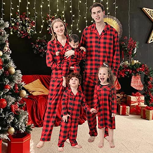 Christmas Pyjama Family Weihnachtsmann Hirsch Kostüm Set Rundhals Nachtwäsche Baby Strampler Weihnachtspulli Schlafanzüge Top Pulli Hausanzug Familie Eltern Kind Junge Mädchen Winter Warme