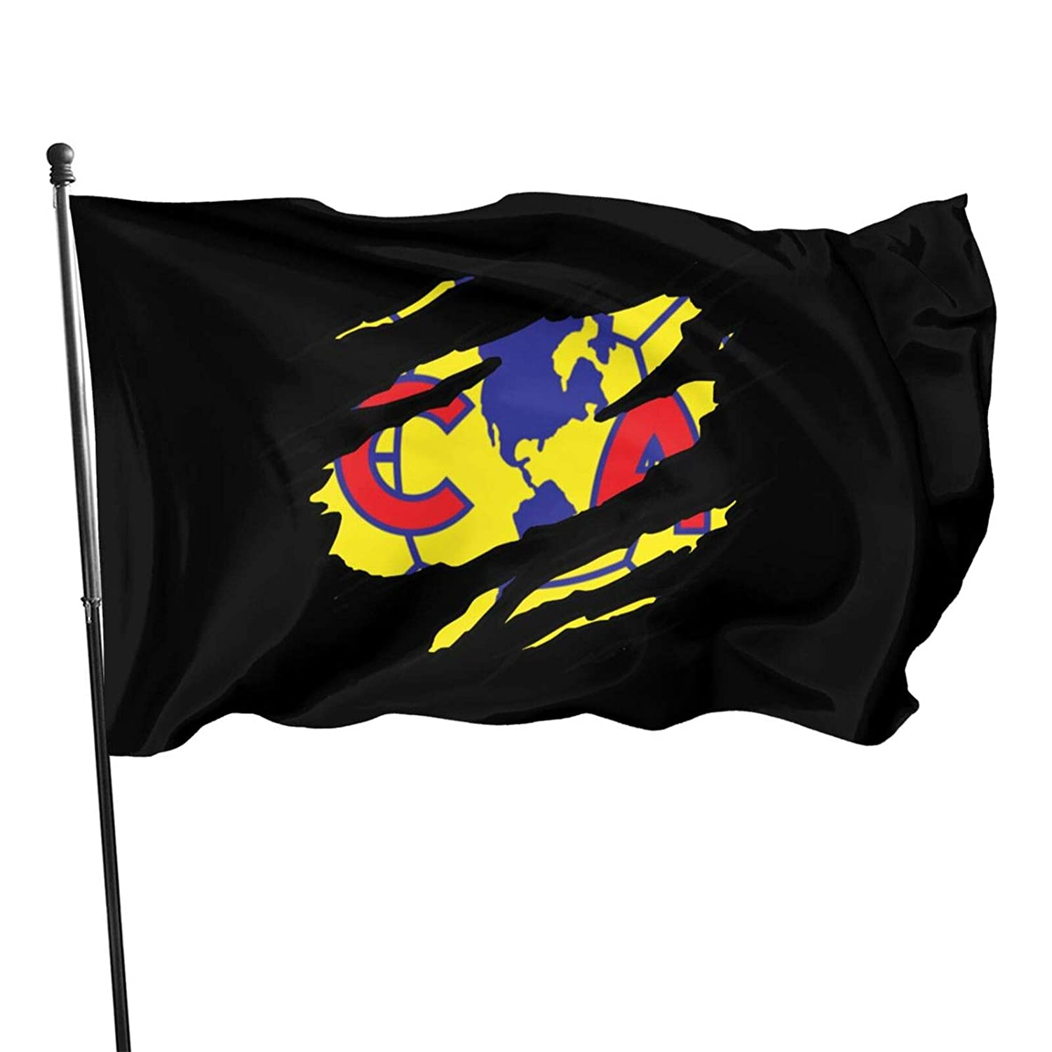 Torn Club America Logo 3 X 5 Feet Flag Resistance To Fade 3 X 5 Ft Flag Uv Protection Ft Garden Flag Party Decorations,Parades,Election Day Celebration Event For Outdoor Indoor Home Deco