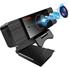 Karinear 2K Webcam with Microphone,5 Megapixel 140 Degree Wide-Angle Webcam Full HD 2K Video Recording Up to 2560x1440 Pix...