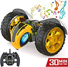 Jasonwell 1:8 X-Large RC Car for Kids Remote Control Car 2.4Ghz Rechargeable Off Road Race Cars Bumble Lightning Bee Rock ...