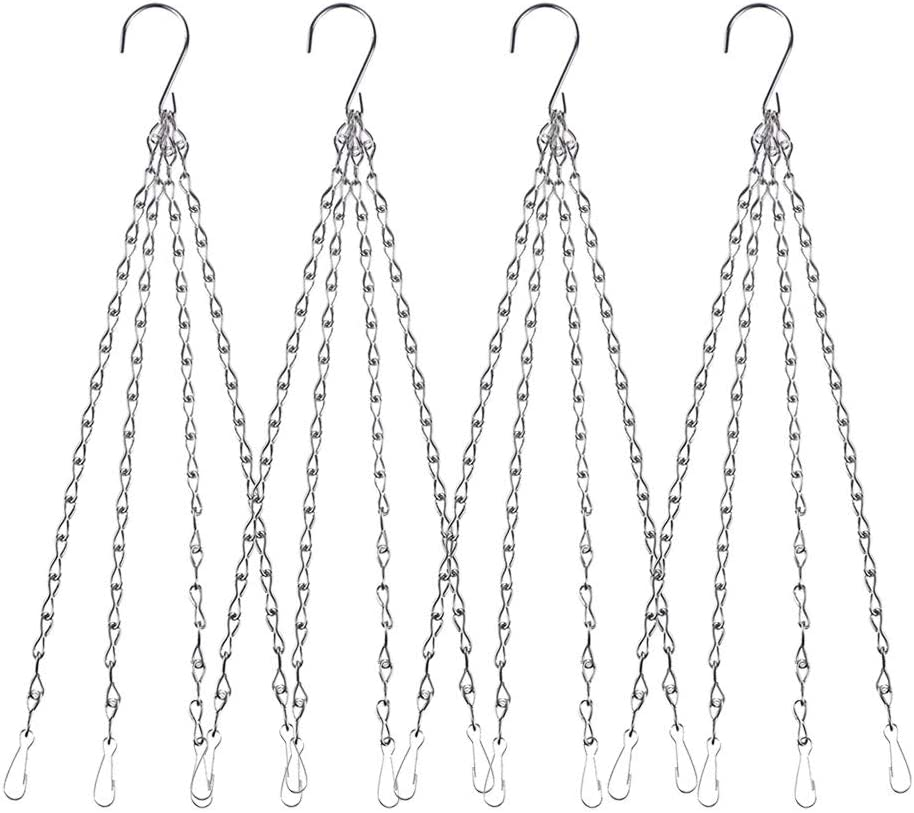 4Pack - 24 Inch 4 Leads Hanging Chain Max 85% OFF Ranking TOP5 Pot Hooks Chai Flower with